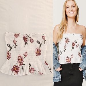 PacSun Floral Smocked Tube Top